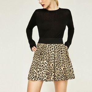 Zara Basic Collection animal print shorts